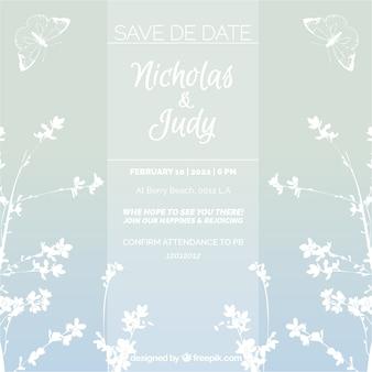 Bonita invitación de boda estilo floral