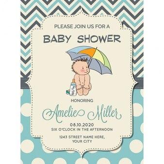 Retro Baby Shower Invitations as beautiful invitations design