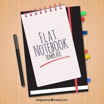 Bonita plantilla de estilo plano para cuaderno
