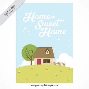 Bonita tarjeta de hogar