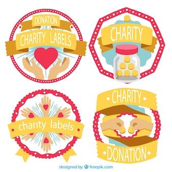 Bonitas etiquetas para la caridad