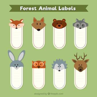 Bonitas pegatinas con animales del bosque