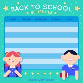 Bonito calendario escolar azul
