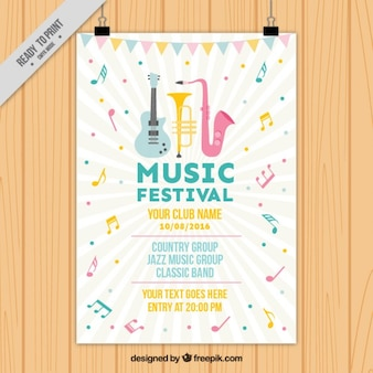 Bonito cartel de festival musical
