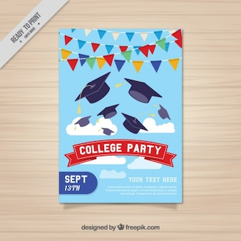 Bonito cartel para fiesta universitaria