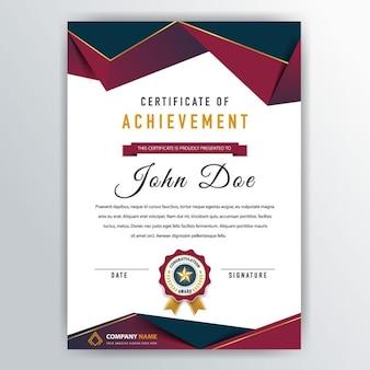 Bonito certificado con cintas rojas