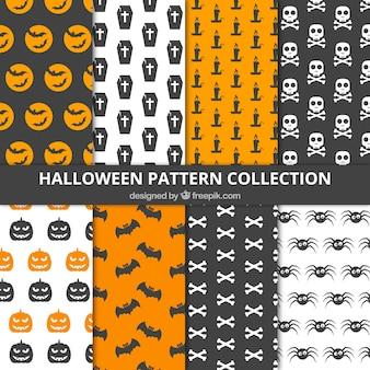 Bonito conjunto de patrones de halloween