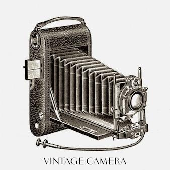 Bonito dibujo de una cámara de época