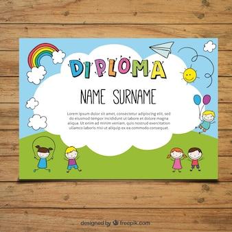 Bonito diploma para niños