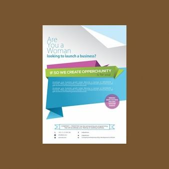 Bonito folleto para negocios