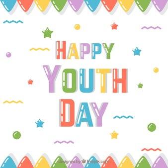 Bonito fondo de colores del día de la juventud