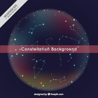 Bonito fondo de constelaciones