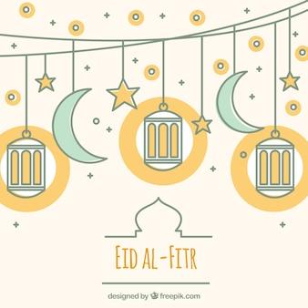 Bonito fondo de eid al-fitr