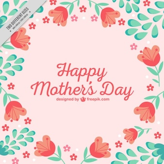 Bonito fondo del Día de la Madre con tulipanes