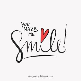 Bonito lettering  me haces sonreír