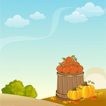 Bonito paisaje de otoño