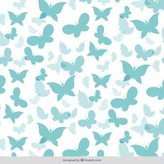 Bonito patrón de siluetas de mariposas