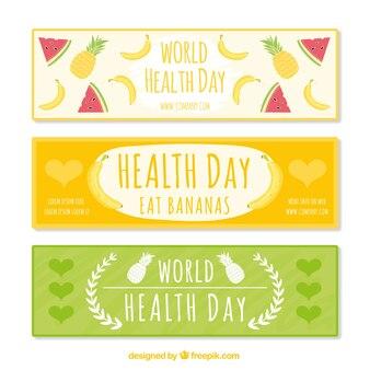 Bonitos banners del día de la salud