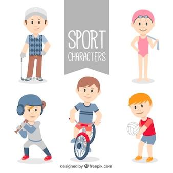 Bonitos personajes deportistas