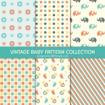 Bonitos y decorativos patrones de bebés