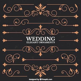 Bordes elegantes de boda