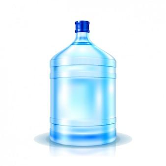 Botella de agua realista