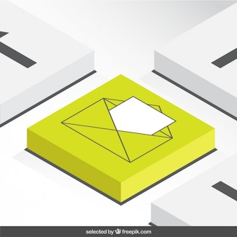 Botón carta 3d
