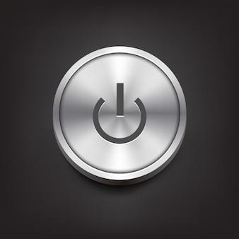 Botón de encendido de metal