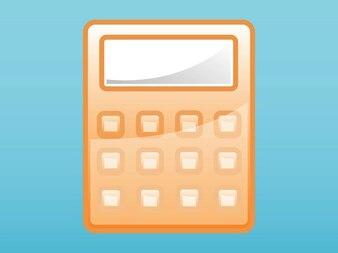 Botones de la calculadora vector brillante pantalla
