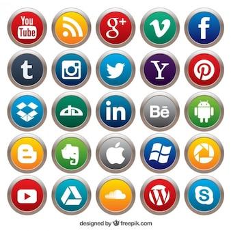 Botones de medios de comunicación social