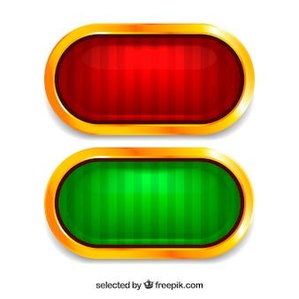 Botones rojos y verdes