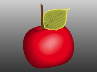 Brillante delicioso comer manzana vector