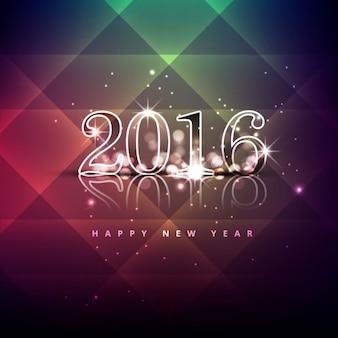 Brillante felicitación de nuevo año