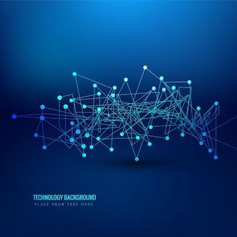 Brillante fondo azul de tecnología