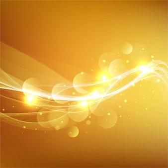 Brillante fondo ondulado amarillo