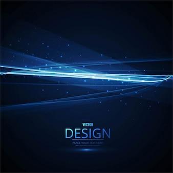 Brillante fondo ondulado azul con luces