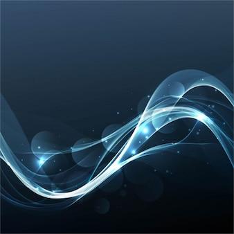 Brillante fondo ondulado azul oscuro