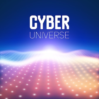 Brillar red negocio gráfico cyber