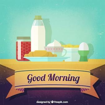 Buen desayuno por la mañana