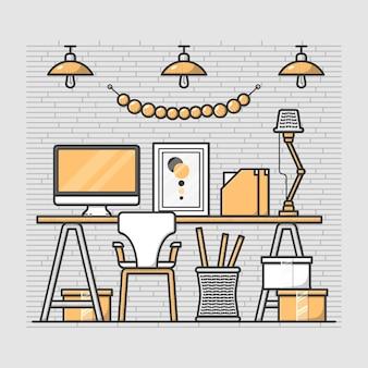 Buena oficina en casa