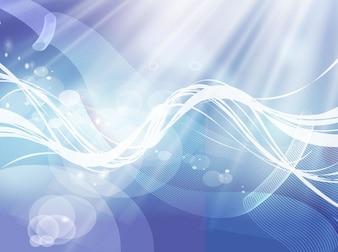 Burbujas abstractas y remolinos vector energético