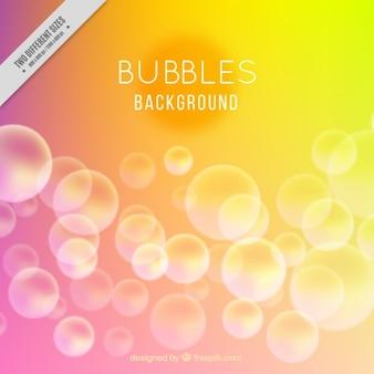 Burbujas de colores de fondo
