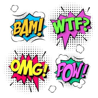 Burbujas de texto coloridas de cómic