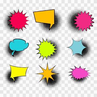 Burbujas de texto coloridas
