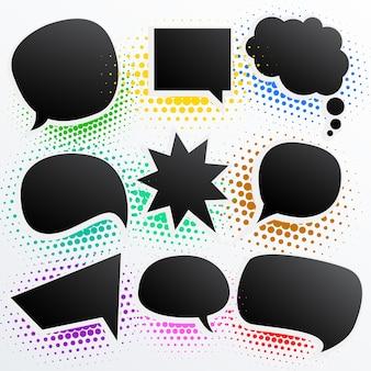 Burbujas de texto negras