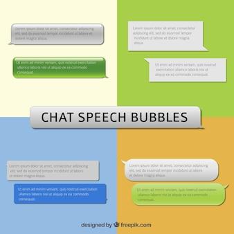 Burbujas del discurso de chat