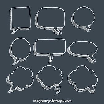 Burbujas del discurso esbozadas
