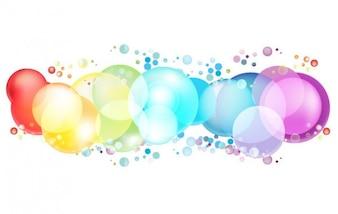 Burbujas redondeadas en color del arco iris