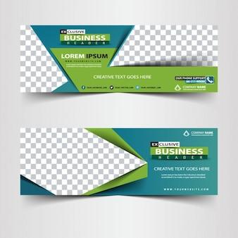 Cabecera abstracta de negocios