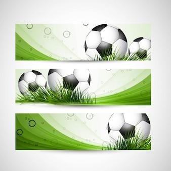 Cabeceras de fútbol del color verde